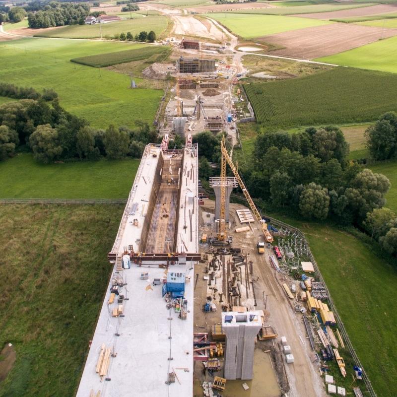 Brückenbau im Großformat A94 © Verena Kerschbaumer / HABAU