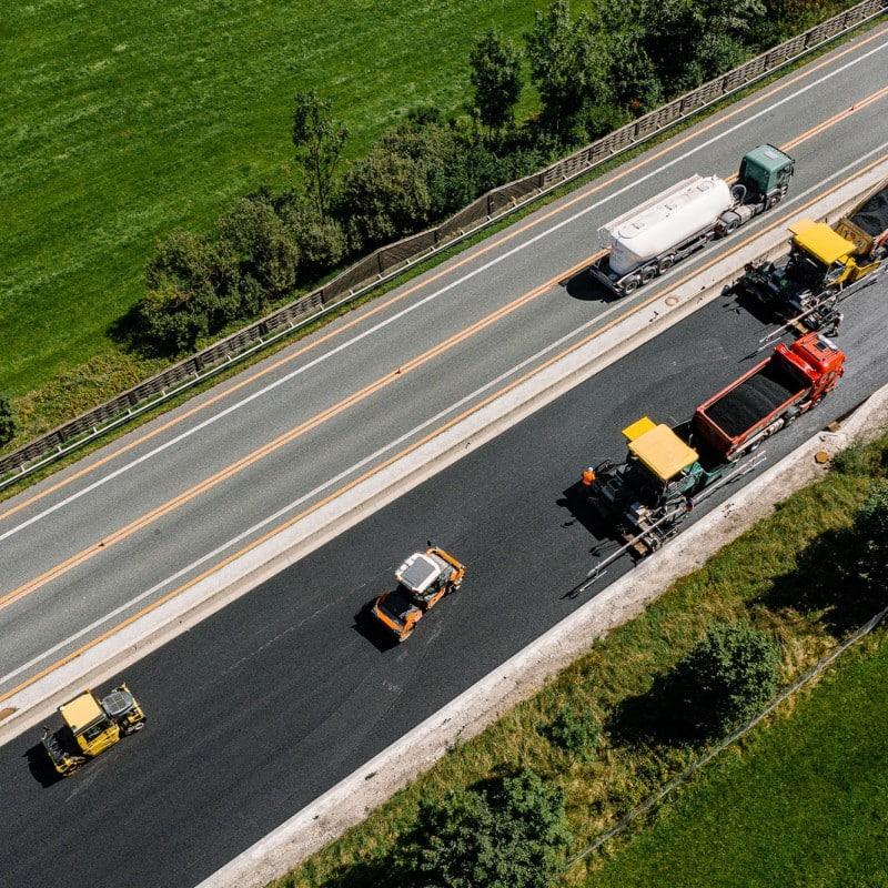 Straßenbau A9 © Joel Kernasenko