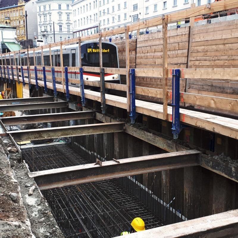 U4 Pilgramgasse - U-Bahn Wien © HABAU