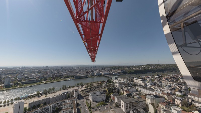 Blick vom Baukran über die Linzer City © Gregor Hartl