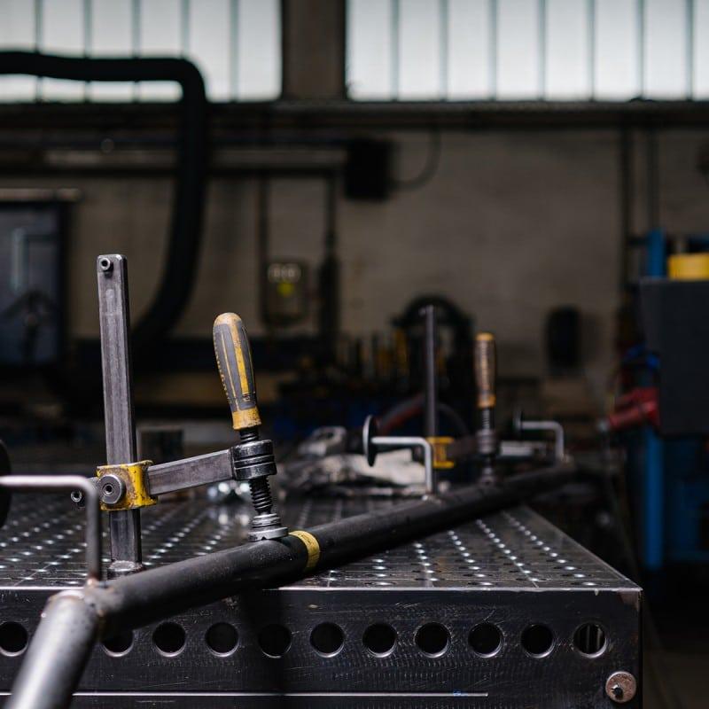 Metallbauteil in der Herstellung