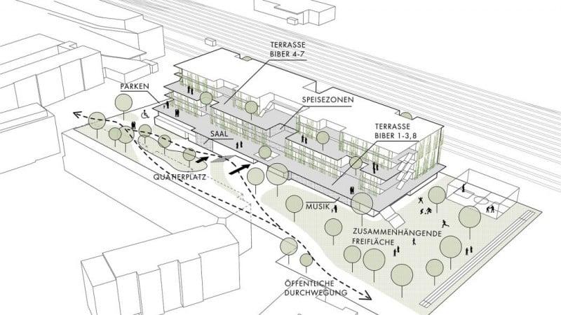 Visualisierung Bildungscampus Deutschordenstraße © Shibukawa Eder Architects ZT GmbH