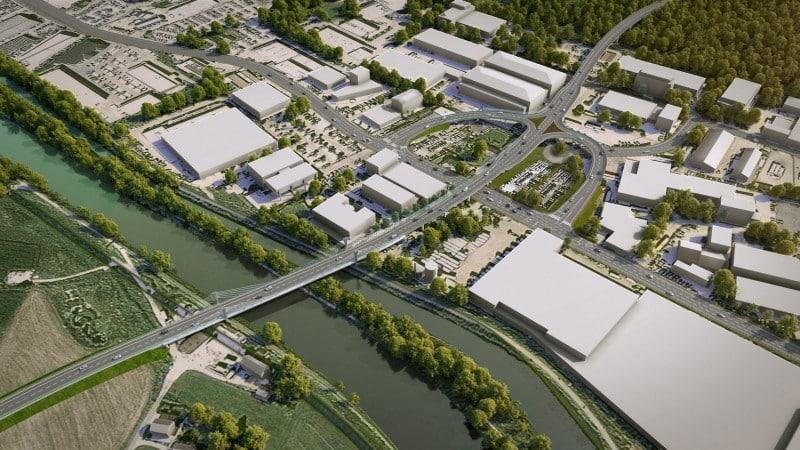 Westtangente Rosenheim © SSF Ingenieure AG (Bauwerksentwurf) | Reinhart + Partner Architekten und Stadtplaner (Visualisierung)
